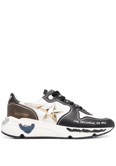 White and black Running Sole lace-up sneakers -men GOLDEN GOOSE | GMF00126F00182181228