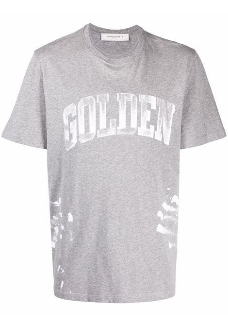 T-shirt con logo in grigio - uomo GOLDEN GOOSE | GMP01022P00058760316