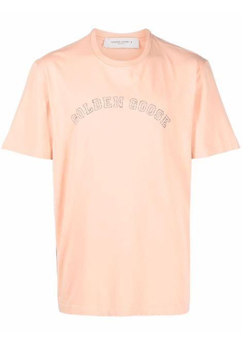 T-shirt con logo in corallo - uomo GOLDEN GOOSE | GMP01023P00018755447