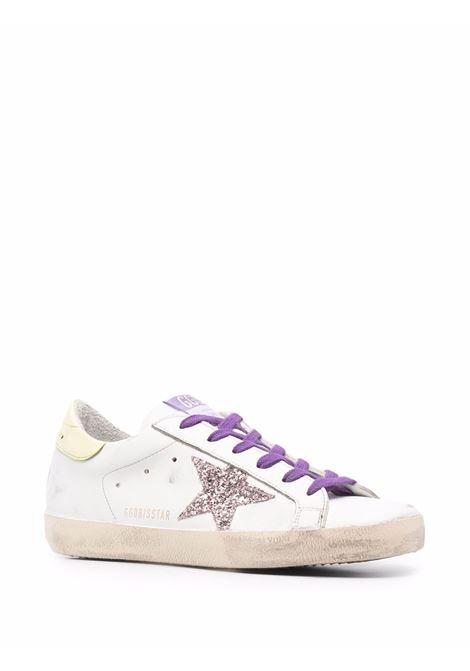 Sneakers superstar con effetto vissuto bianco rosa e giallo - donna GOLDEN GOOSE | GWF00101F00155480799