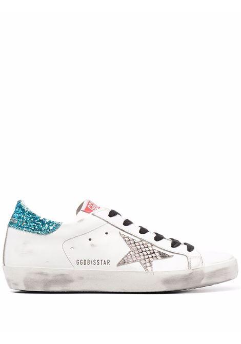 Sneakers superstar con effetto vissuto bianco argento e celeste - donna GOLDEN GOOSE | GWF00101F00158710629