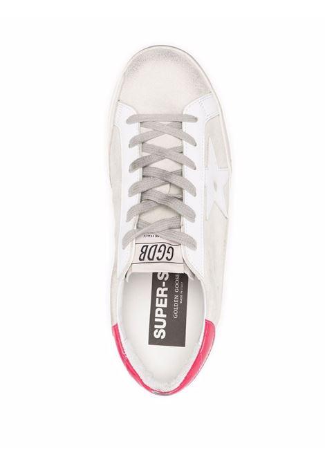 Sneakers superstar con effetto vissuto bianco grigio e rosso - donna GOLDEN GOOSE | GWF00101F00160010633