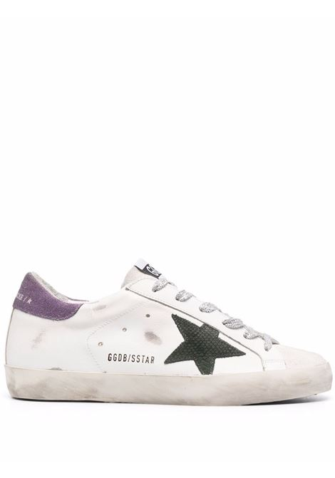 Sneakers Superstar in bianco, verde militare e lilla - donna GOLDEN GOOSE | GWF00101F00166510655
