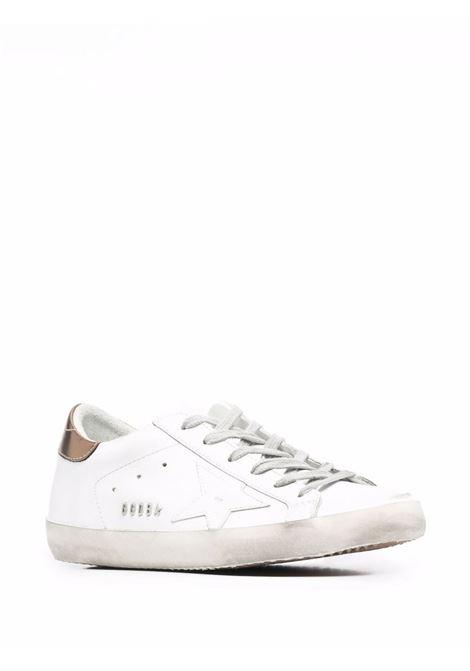Sneakers superstar con effetto vissuto bianco oro - donna GOLDEN GOOSE | GWF00101F00194610272