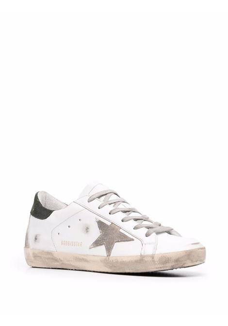 Sneakers superstar con effetto vissuto bianco argento verde militare - donna GOLDEN GOOSE | GWF00102F00189410731
