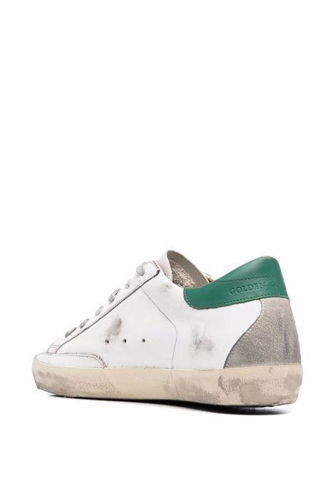 Sneakers superstar con effetto vissuto bianco argento verde - donna GOLDEN GOOSE | GWF00102F00218010802
