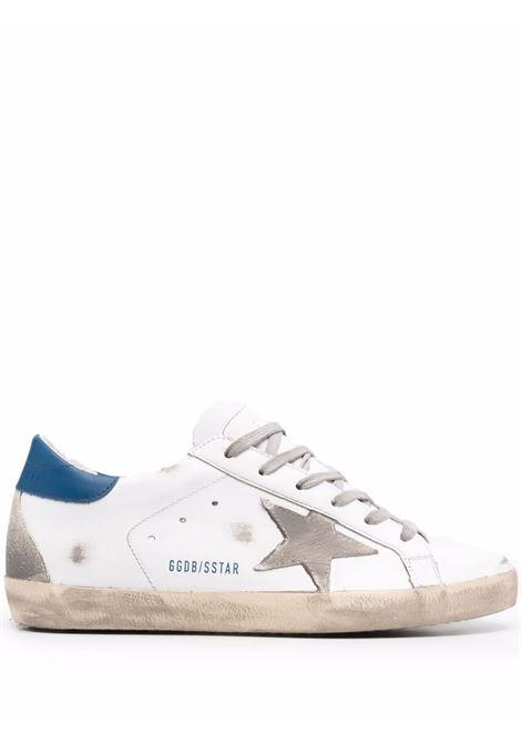 Sneakers superstar con effetto vissuto bianco argento blu - donna GOLDEN GOOSE | GWF00102F00218110509