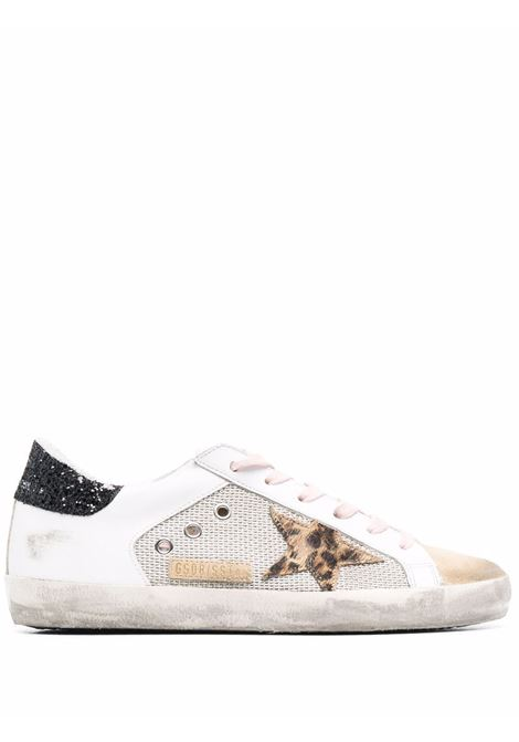 Sneakers superstar con effetto vissuto bianco argento beige - donna GOLDEN GOOSE | GWF00103F00159881147