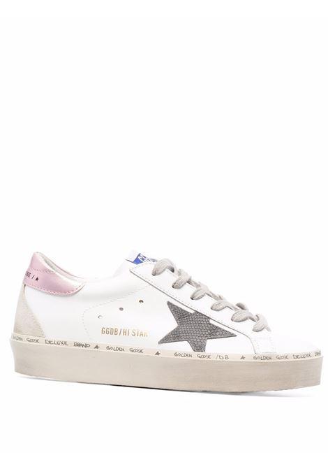 Sneakers hi star con effetto vissuto bianco grigio e rosa - donna GOLDEN GOOSE | GWF00119F00194110746