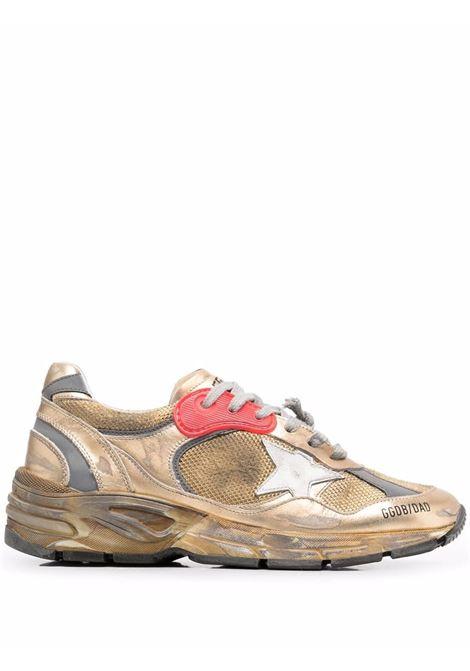 Sneakers Running Sole con effetto vissuto in oro - uomo GOLDEN GOOSE | GWF00199F00121165120