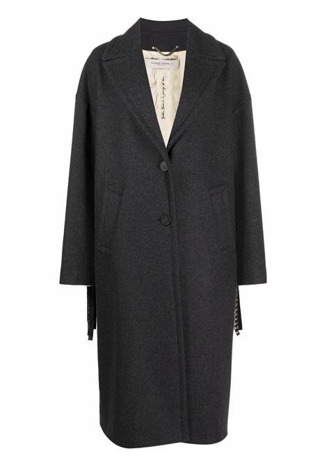 Cappotto monopetto con frange in grigio scuro - Donna GOLDEN GOOSE | GWP00566P00057360304