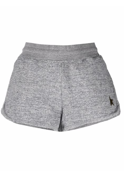 Embroidered-logo shorts in grey - women GOLDEN GOOSE | GWP00879P00052260311