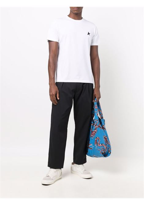 T-shirt con stampa in bianco - uomo GOLDEN GOOSE | GWP00880P00059310364