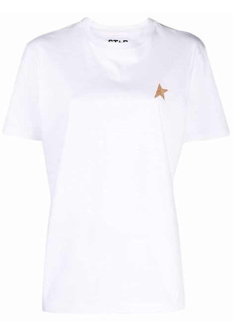 T-shirt white star a girocollo - donna GOLDEN GOOSE | GWP00880P00059410272
