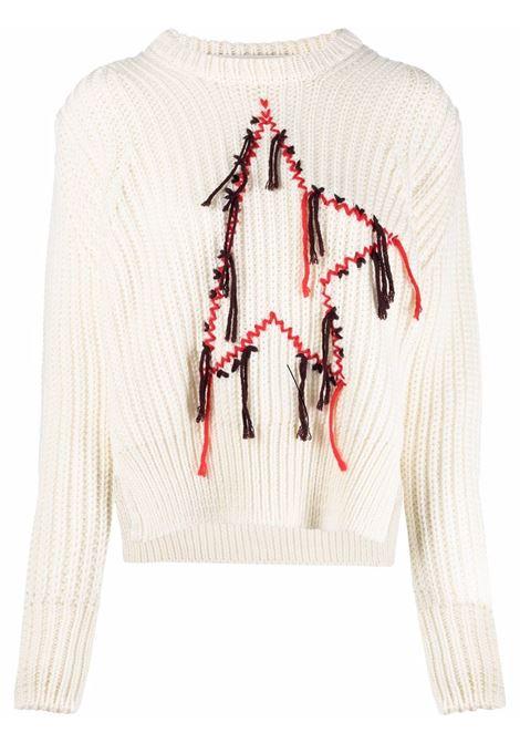 Maglione con ricamo dottie beige,rosso e nero - donna GOLDEN GOOSE | GWP00964P00056110120