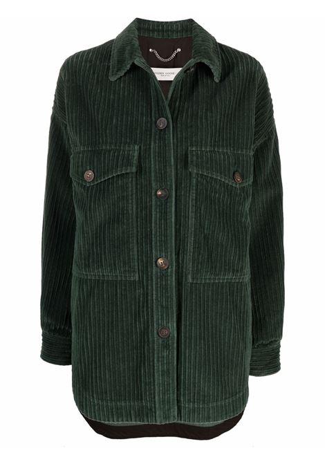 Giacca camicia in velluto a coste con bottoni in verde - donna GOLDEN GOOSE | GWP00982P00051835737