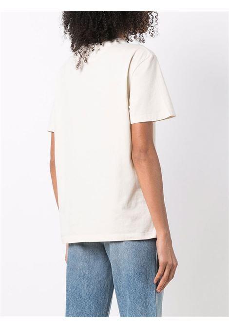 T-shirt con stampa in bianco e nero - Donna GOLDEN GOOSE | GWP01005P00019110825