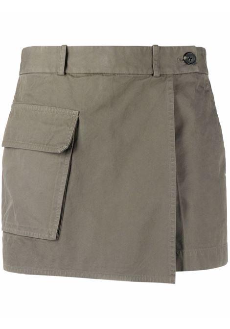 Shorts con tasca verde militare- donna HELMUT LANG | L04HW203FF2