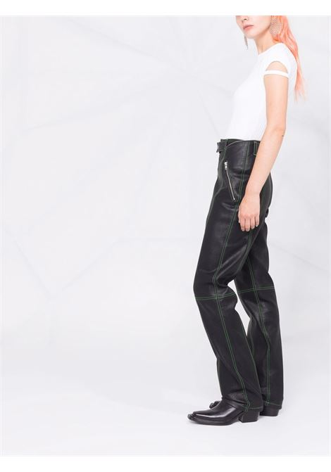 T-shirt a maniche corte modello coste bianco- donna HELMUT LANG | L04HW502100