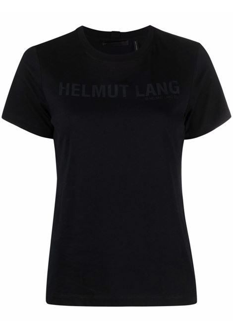 T-shirt with logo black- women HELMUT LANG | L04HW524001