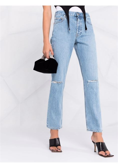 Jeans dritti a vita media in blu - donna HELMUT LANG | L05DW2030D0