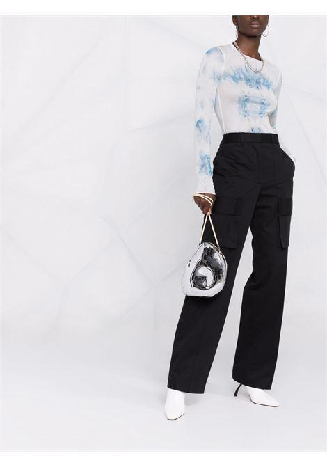 Pantaloni dritti a vita alta in nero - donna HELMUT LANG   L05HW201001