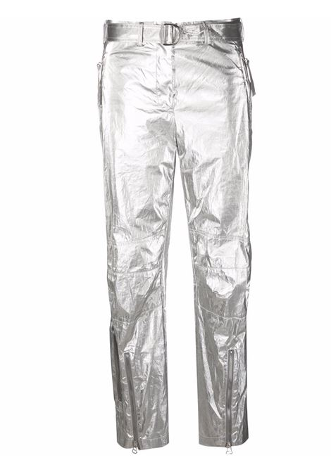 Pantaloni con cintura Astro Foil in argento - donna HELMUT LANG | L06HW208B0K