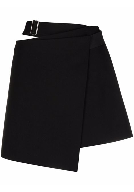 Minigonna con cut-out in nero - donna HELMUT LANG | L07HW302001