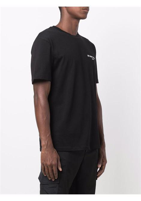 Black shipping label print t-shirt - men  IH NOM UH NIT | NUW21221009