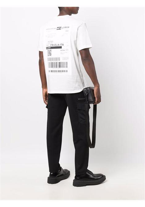 White shipping label print t-shirt - men  IH NOM UH NIT | NUW21221081