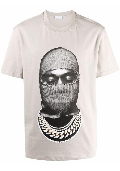 Mask graphic-print T-shirt in grey - men  IH NOM UH NIT | NUW21241655