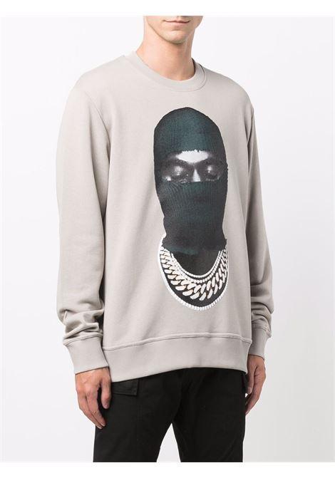 Mask graphic-print sweatshirt in grey - men  IH NOM UH NIT | NUW21246655