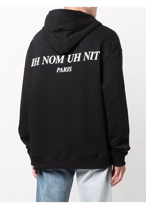 Mask graphic-print sweatshirt in black - men  IH NOM UH NIT | NUW21252009