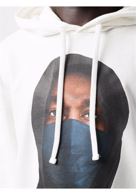 Mask graphic-print sweatshirt in white - men  IH NOM UH NIT | NUW21252081