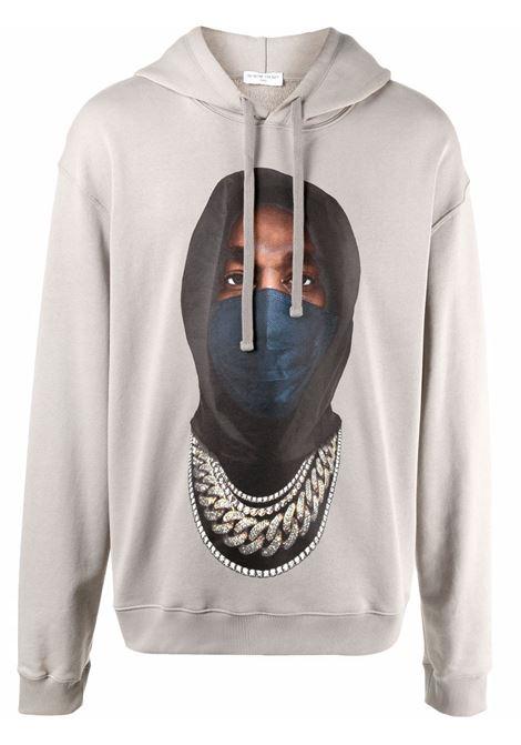 Mask graphic-print sweatshirt in warm grey - men  IH NOM UH NIT | NUW21252655