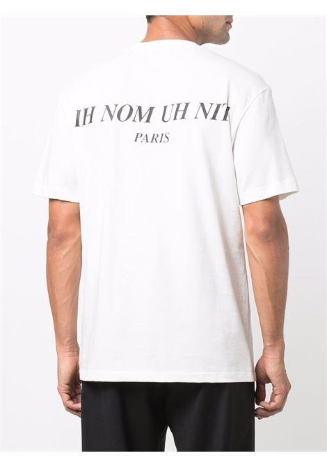 Mask graphic-print T-shirt in white - men  IH NOM UH NIT | NUW21254081