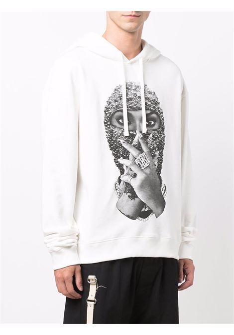 Mask graphic-print sweatshirt in off-white - men  IH NOM UH NIT | NUW21255081