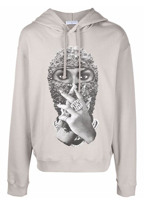 Mask graphic-print sweatshirt in warm grey - men  IH NOM UH NIT | NUW21255655