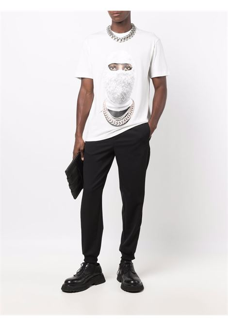 T-shirt con stampa grafica mask in bianco - uomo IH NOM UH NIT | NUW21281081
