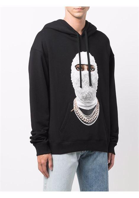 Mask graphic-print sweatshirt in black - men  IH NOM UH NIT | NUW21282009