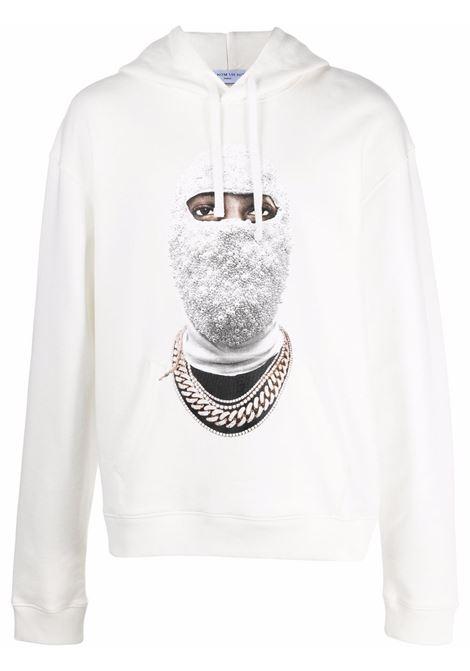 Mask graphic-print sweatshirt in off-white - men  IH NOM UH NIT | NUW21282081