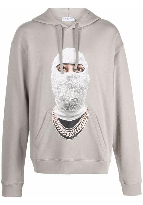 Mask graphic-print sweatshirt in warm grey - men  IH NOM UH NIT | NUW21282655