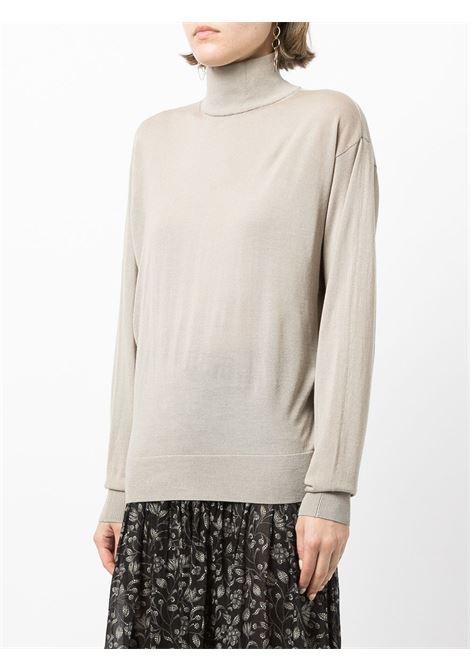 Beige funnel-neck fine-knit jumper - women  IRO | 21WWM12ROMEABEI37
