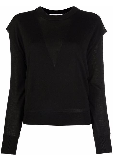 Black oversized crew neck jumper - women  IRO | 21WWM12ROYCEBLA01