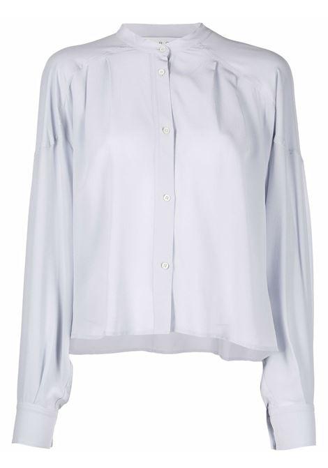 Pearl grey band-collar shirt - women  IRO | 21WWM18ISSAGRY04