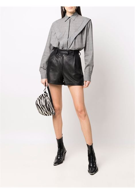 Grey check-print shirt - women  IRO | 21WWM18MEVSIMGRY08