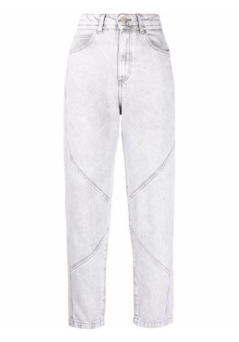 Light-grey Rousselin high-waisted jeans - women  IRO | 21WWM22ROUSSELINGRY02