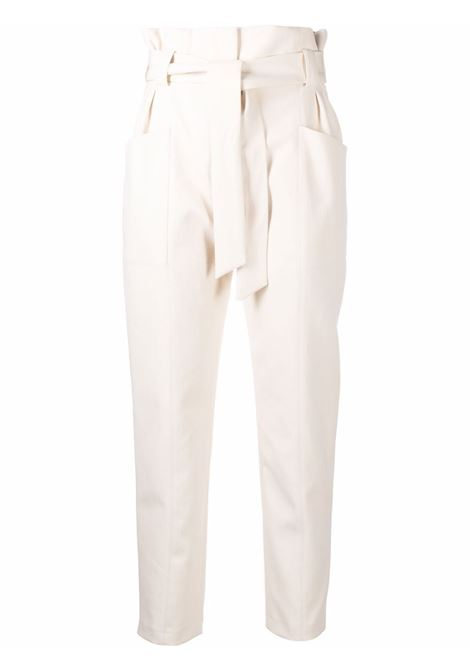 White Akin tie-waist slim-cut trousers - women  IRO | 21WWM23AKINECR02