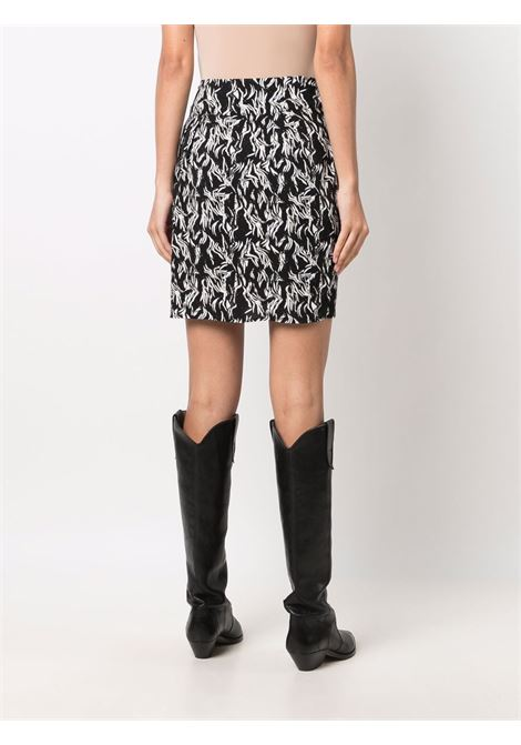 Black and white Yvan leaf-print mini skirt - women  IRO | 21WWM31YVANBLA02