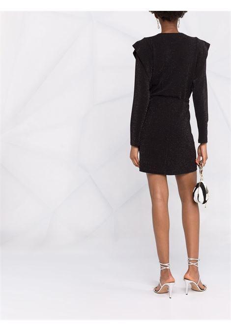 Glitter-detail dress in black and silver - women  IRO | 21WWM33NAHILDABLA22